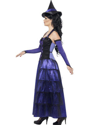 New Adult Deluxe Glamorous Witch Costume Purple Decadance with Hat + Glovettes