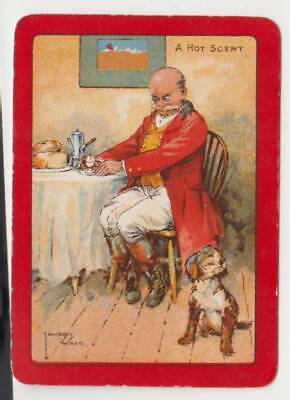 """A49 swap Playing Card artist Lawson wood Wide ad """" a hot scent """" comical dog"""