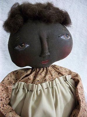 PATTERN,SEWING, Primitive doll,Black, folk art, by Dumplinragamuffin