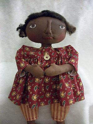 PATTERN,Primitive black doll, folk art,17 in.,sewing,by Dumplinragamuffin