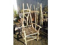 Greenwood Woodland chair - coppiced hazel