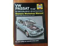 Haynes VW passat Owners Workshop Manual - excellent condition