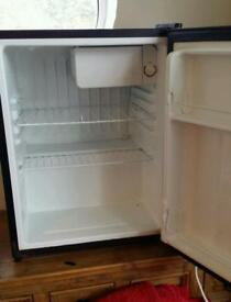Proline black fridge with small freezer compartment table top