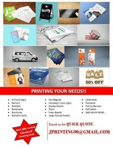 Printing - Business Cards, Banners, Lawn signs, Postcards, Flyer