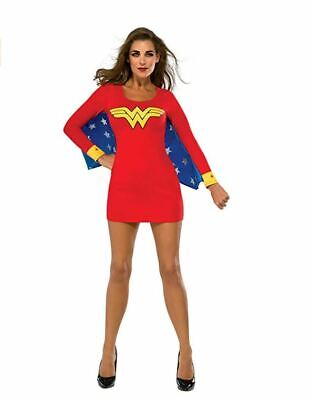 Rubie's DC Superheroes Wonder Woman Adult Wing Dress Red Blue Small Stars Comics