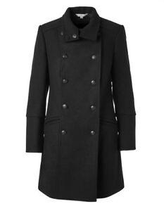 Military Style Black Wool CLEO Pea Coat, Brand New, LG/XL/XXL