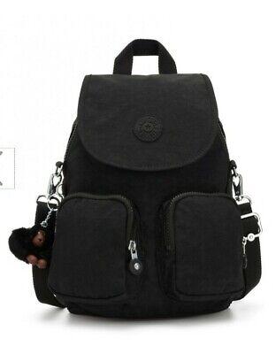 Kipling Firefly UP convertible backpack shoulder bag True Black 7.5L  New Rrp£87