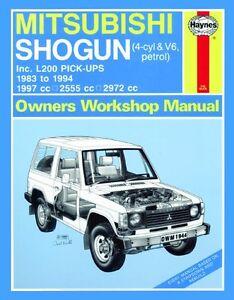 Haynes Owners Workshop Manual Mitsubishi Pajero Triton L200 (1983-1994) REPAIR