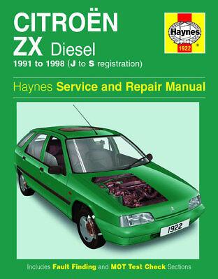 1922 Citroen ZX Diesel 1991 - 1993 Haynes Service and Repair Manual