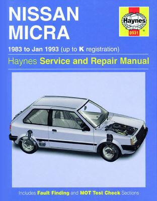 0931 Nissan Micra 1983 - 1993 Haynes Service and Repair Manual