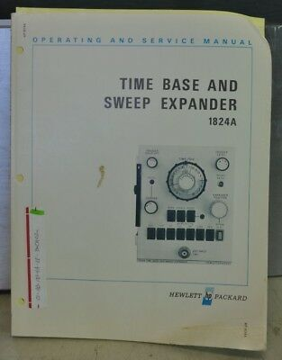 Hp 1824a Time Base Sweep Operating Service Manual