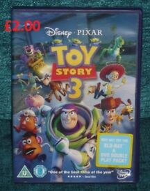 Disney Toy Story 3 DVD Awesome Film Great Happy Film to Watch on a Rainy Day