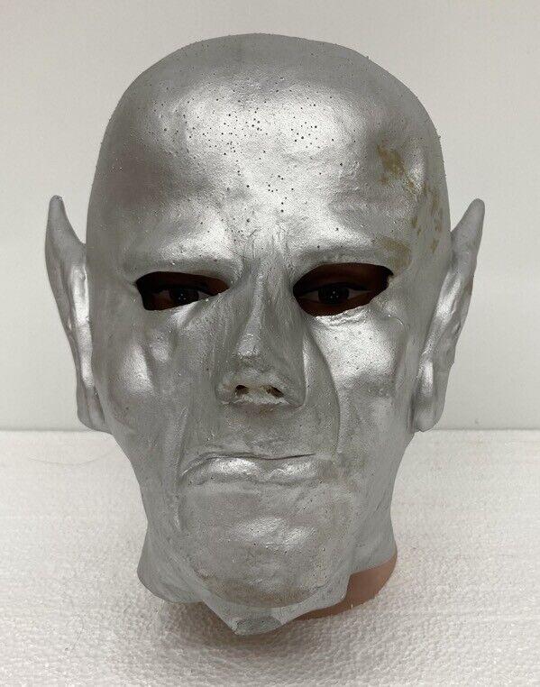 Vintage UFO Silver Alien Halloween Space Creature Monster Mask (Made in Japan)