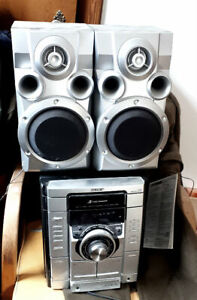 Sony CD Changer, Tape Deck, Radio Tuner Stereo System