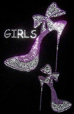 Girls Shose (HOTFIX RHINESTONES Iron on Heat transfer