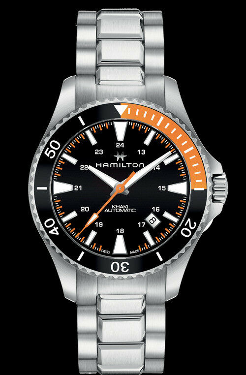 Hamilton khaki navy scuba auto dive watch h82305131 for Hamilton dive watch