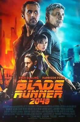 Blade Runner 2049 Intl  Coming Soon  Movie Poster Double Sided 27X40 Original