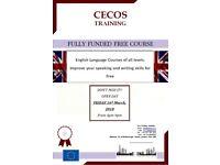 Fully Funded Free English Language Courses