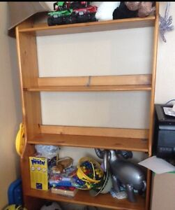 Large solid wood shelving unit