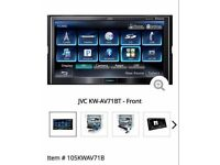 Jvc double din DVD player face off car system with remote