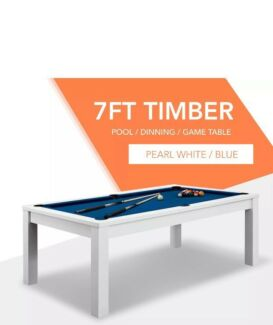 A pool table that converts to an elegant dining table...