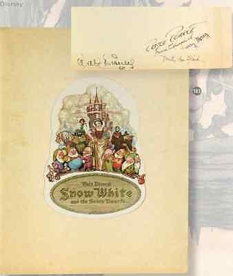 Snow White and the Seven Dwarfs Multi Signed 1937 Premier Program Walt Disney