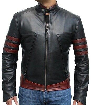 LEATHER NEXT Wolverine X-Men Origins Hugh Jackman Leather Jacket Red IN STOCK