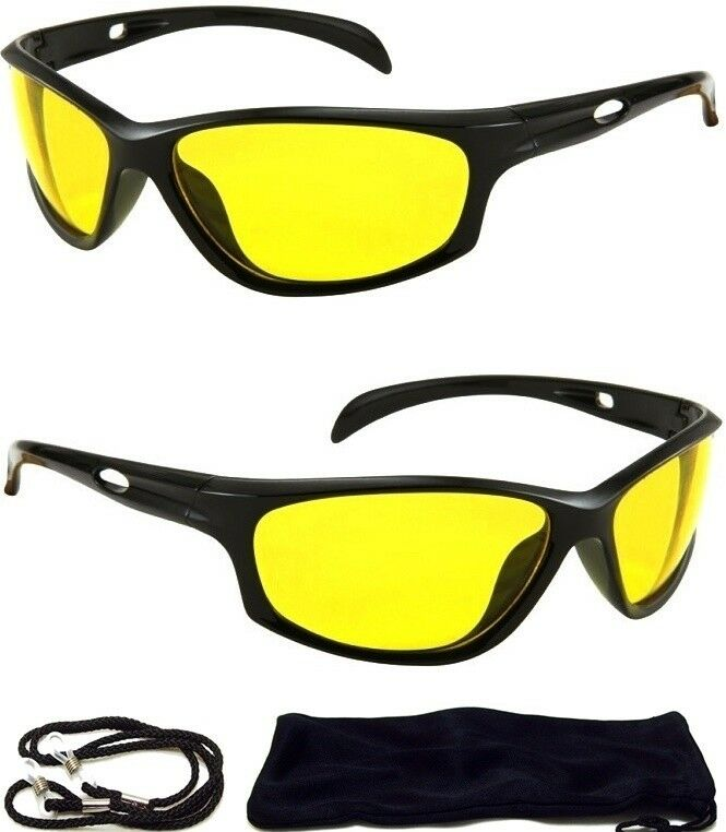 HD Ultra Night Vision Sun Glasses Aviator Mens Womens Yellow