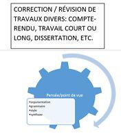 CORRECTION DE TRAVAUX ÉCRITS