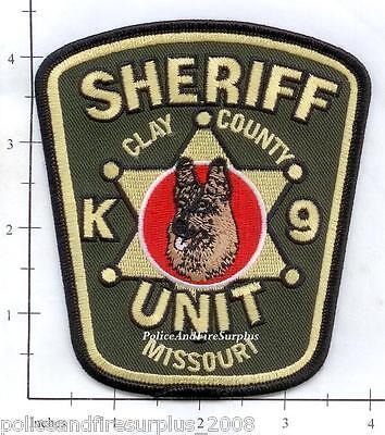 Missouri - Clay County Sheriff K-9 Unit MO Police Dept Patch - German Shepherd