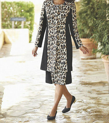 Sz 10 Leolani Animal Print Jacket Dress By Midnight Velvet Retail  169