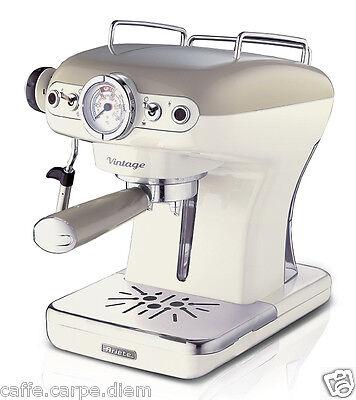 ARIETE 1389 Macchina caffe espresso Vintage coffee maker 1-2 tazze 900W BEIGE