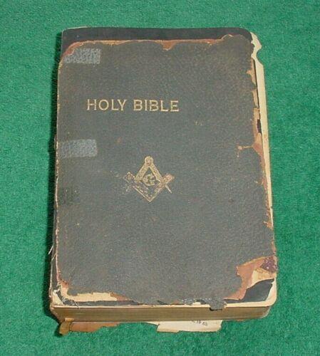 Rare Freemason Masonic 1936? Series A Holy Bible Know Your Bible Company Masonic