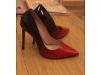 Carvela Red and Black Ombre Heels, Unworn UK Size 4