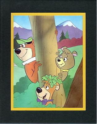 Yogi Bear Gang - YOGI, CINDY & BOO-BOO Professionally Matted PRINT
