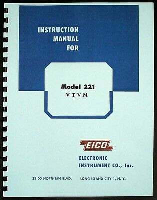 Eico 221 Vtvm Volt-ohm Meter Instruction Manual