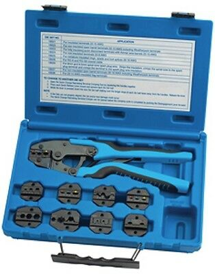 S G Tool Aid 18980 Master Ratcheting Terminal Crimper Set Brand New
