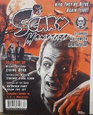 Halloween Scary Monsters (Scary Monsters Halloween 2018 Issue 110 Night of the Living DeadFREE SHIPPING)