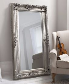 Large ornate louis leaner mirror