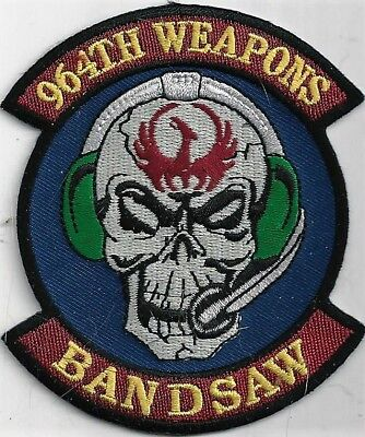USAF 964 WEAPONS PATCH -   'BANDSAW'                                       COLOR