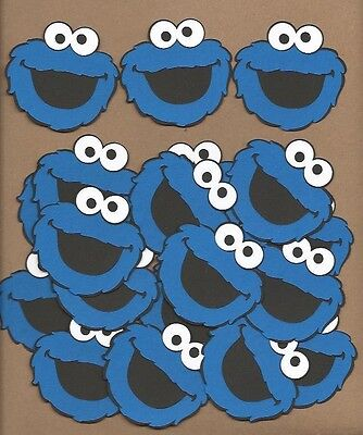 20 2.5 inch Cookie Monster face Cricut Die Cut