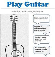 Guitar Lessons for Everyone- Kids, Seniors, Families.