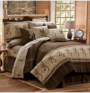 Browning bedding and shower curtain