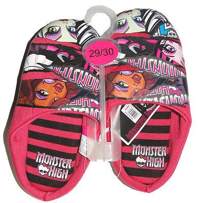 Monster High Mädchen Hausschuhe Slipper Latschen Kinder Puschen - Monster High Kinder