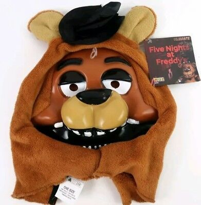 FIVE NIGHTS AT FREDDY's Fazbear Bear Halloween Costume Adult One Size Mask NWT](Adult Bear Costumes)