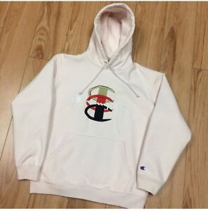 Supreme X Champion Stacked C's Baby Pink Hoodie