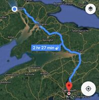 Ride share from Moncton to Dartmouth tomorrow early morning