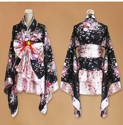 Women Anime Cosplay Costume Dress Kimono Japanese Lolita Maid Uniform Outfit AA - Anime Outfit