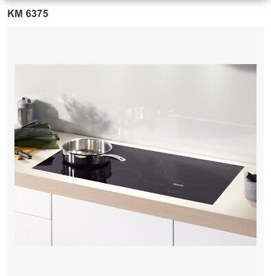 """Miele Cooktop 36"""" Black Built-In Induction Electric Cooktop - KM 6375"""