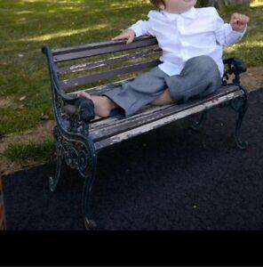 Photograph prop bench